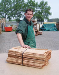 bundle of western red cedar shingels