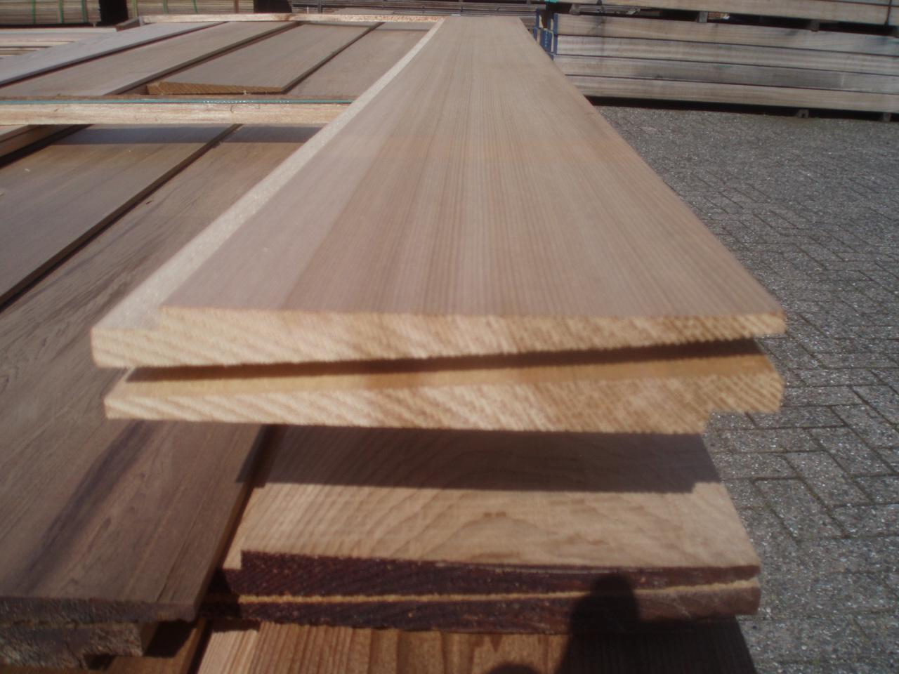 Red Cedar Zweeds Rabat Bevelsiding Gevelbekleding 6