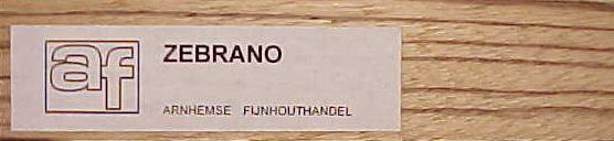 Zebrano is een fraaie Afrikaanse houtsoort met een (u raad het al ...