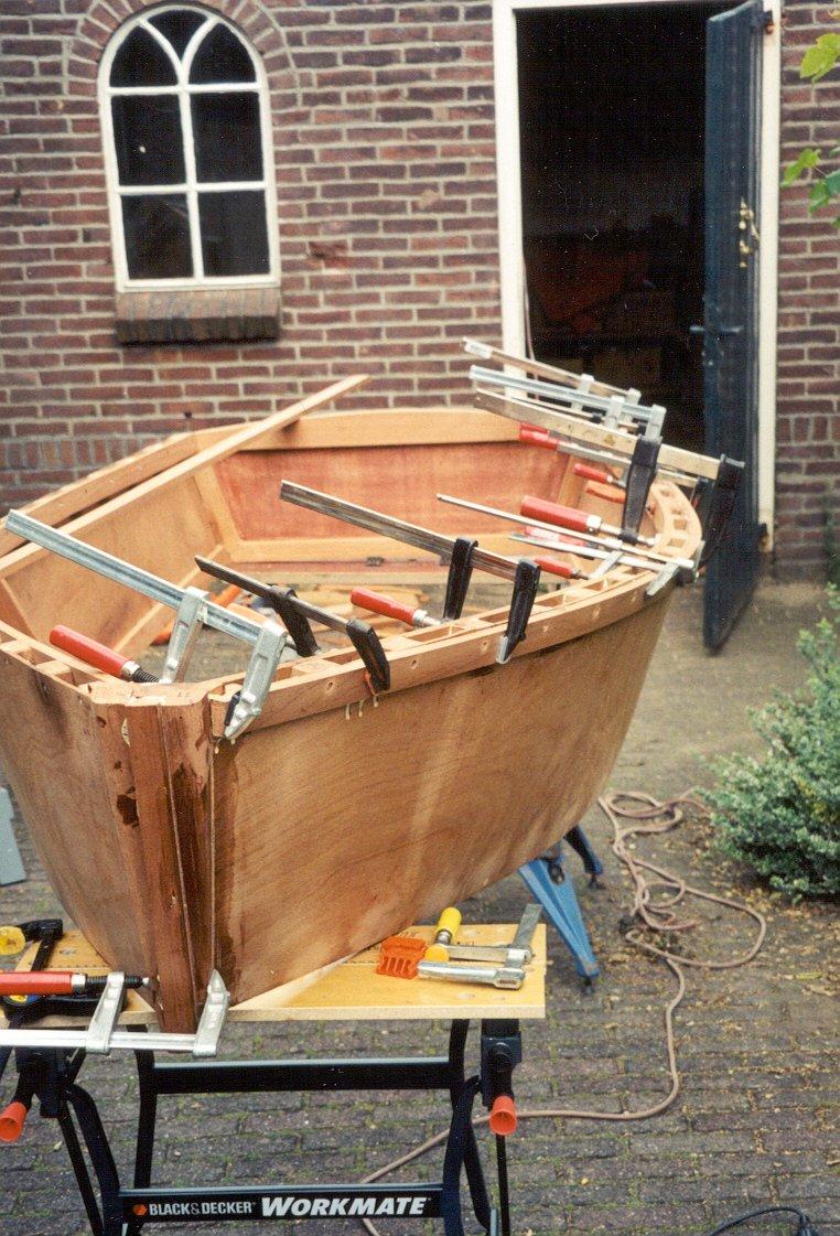 Grote Houten Boot.Scheepsbouw Zelfbouw Schip Schepen Boot Gemaakt Van Ons Hout